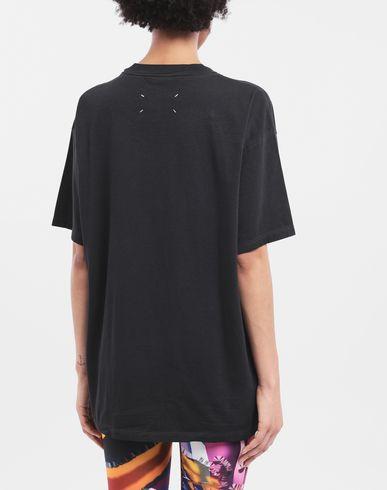 TOPS 4 stitches T-shirt Black