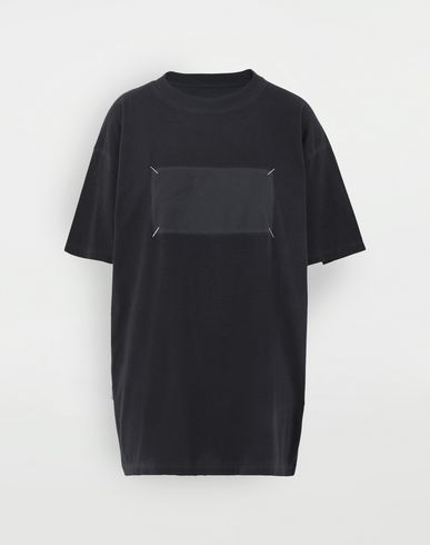 TOPS 4 stitches T-shirt Black