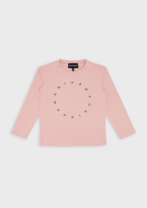 Jersey sweater with circular logo