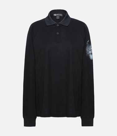 Y-3 Long Sleeve Polo Shirt