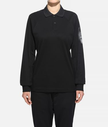 Y-3 Polohemd Dame Y-3 Long Sleeve Polo Shirt  r