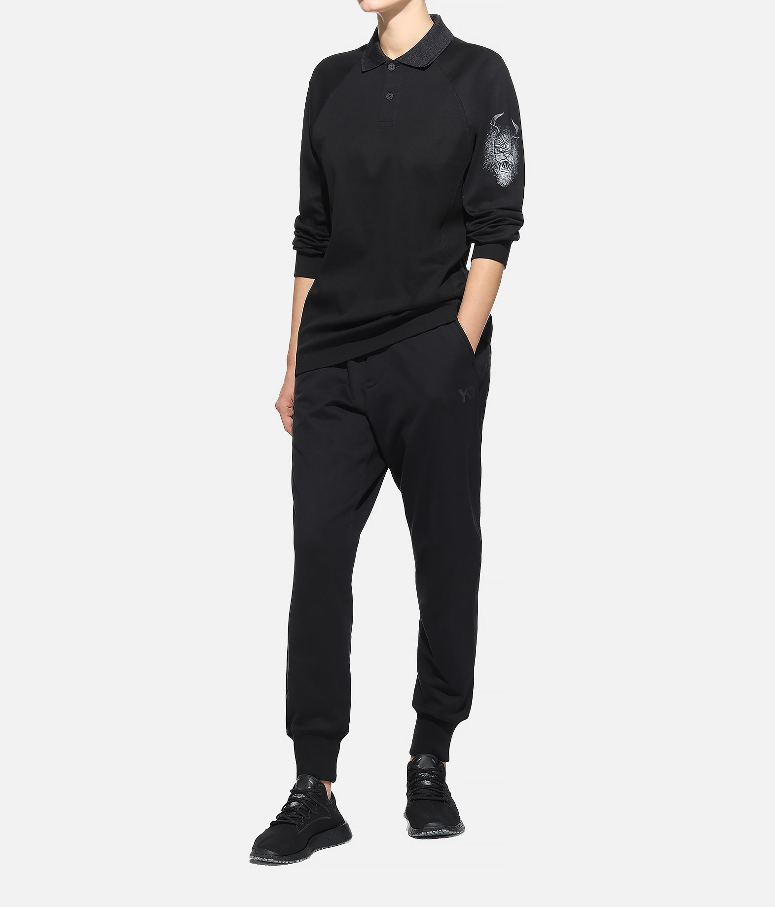 Y-3 Y-3 Long Sleeve Polo Shirt  Polohemd Dame a