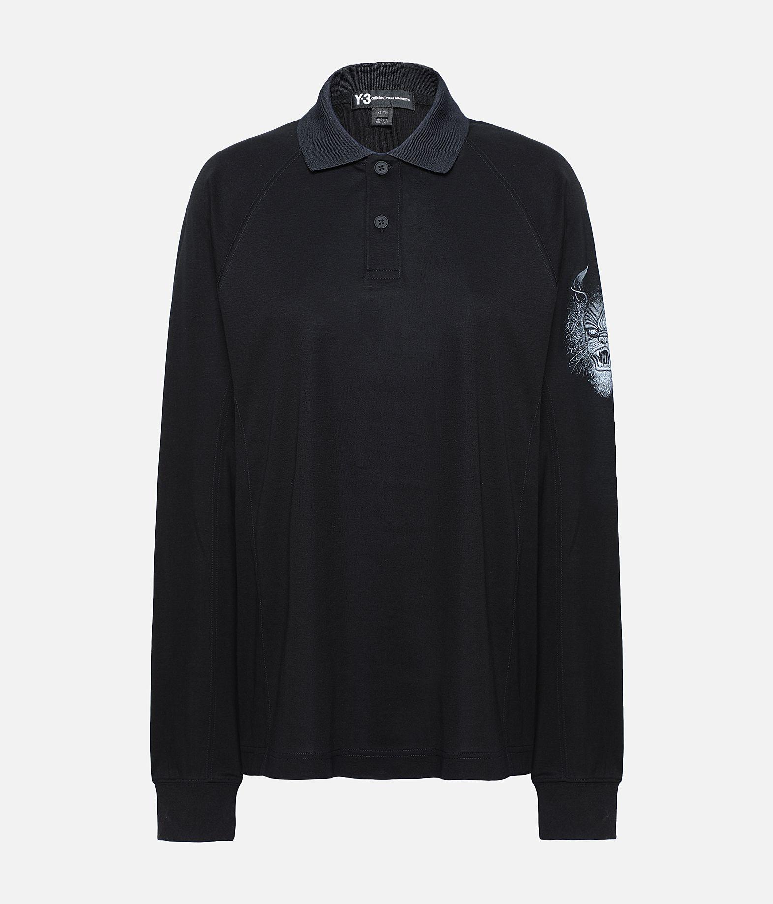 Y-3 Y-3 Long Sleeve Polo Shirt  Polohemd Dame f