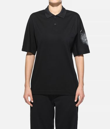 Y-3 Polohemd Dame Y-3 Short Sleeve Polo Shirt  r
