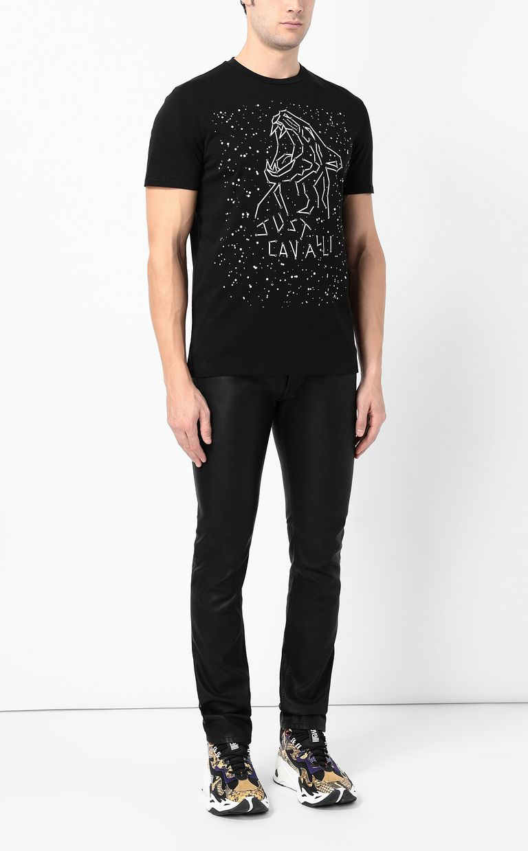 JUST CAVALLI T-shirt with tiger print Short sleeve t-shirt Man d
