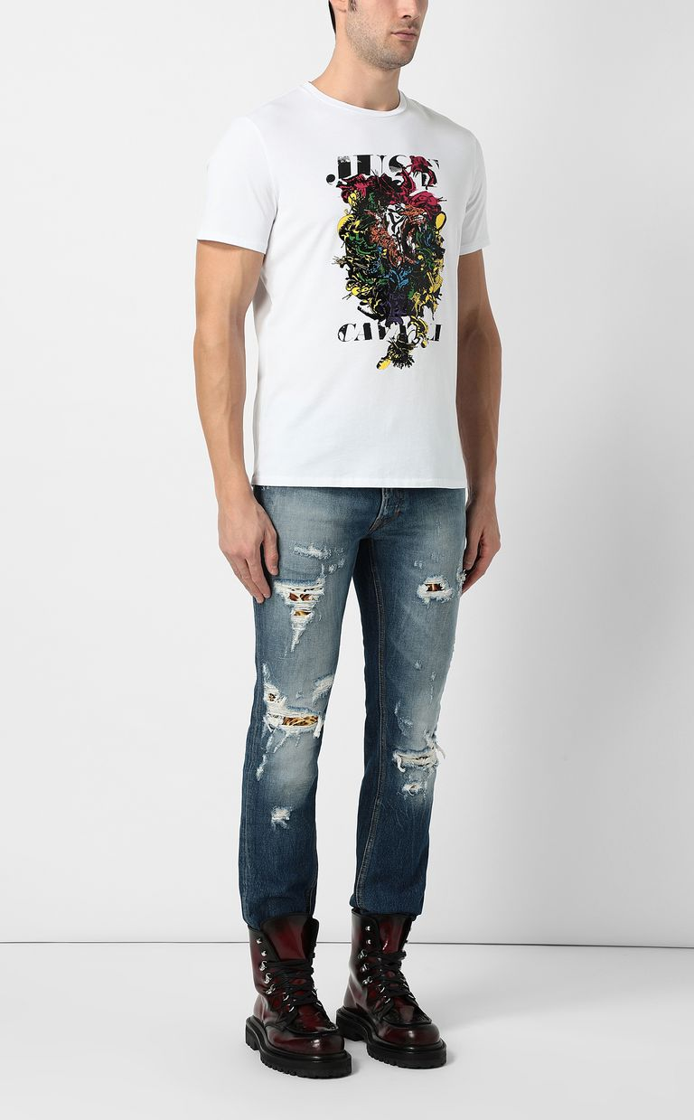 JUST CAVALLI T-shirt with poster print Short sleeve t-shirt Man d
