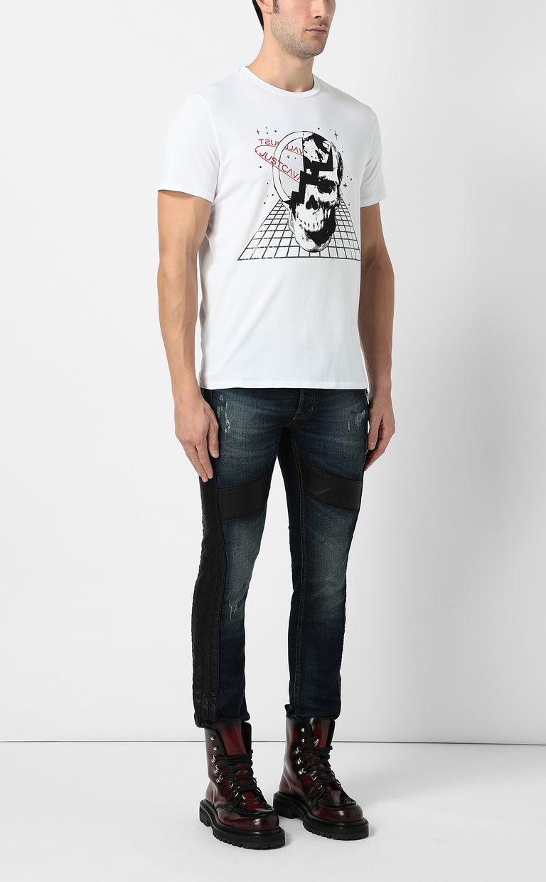 JUST CAVALLI Planet skull t-shirt Short sleeve t-shirt Man d