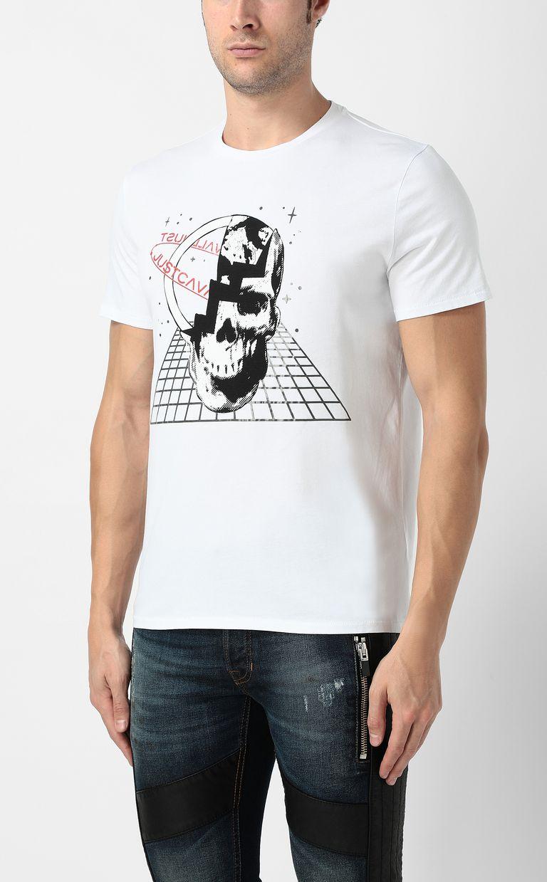 JUST CAVALLI Planet skull t-shirt Short sleeve t-shirt Man r
