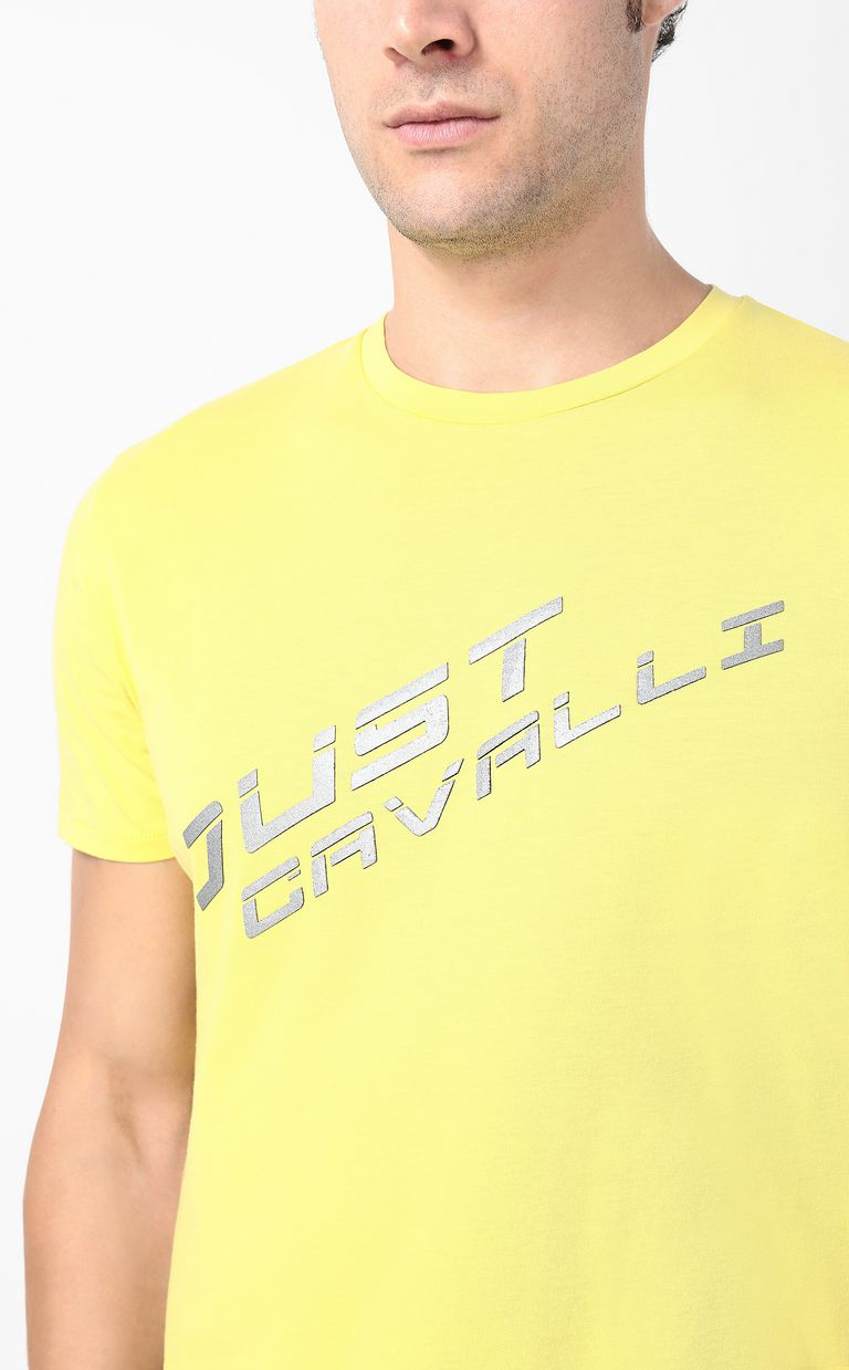 JUST CAVALLI T-shirt with logo print Short sleeve t-shirt Man e