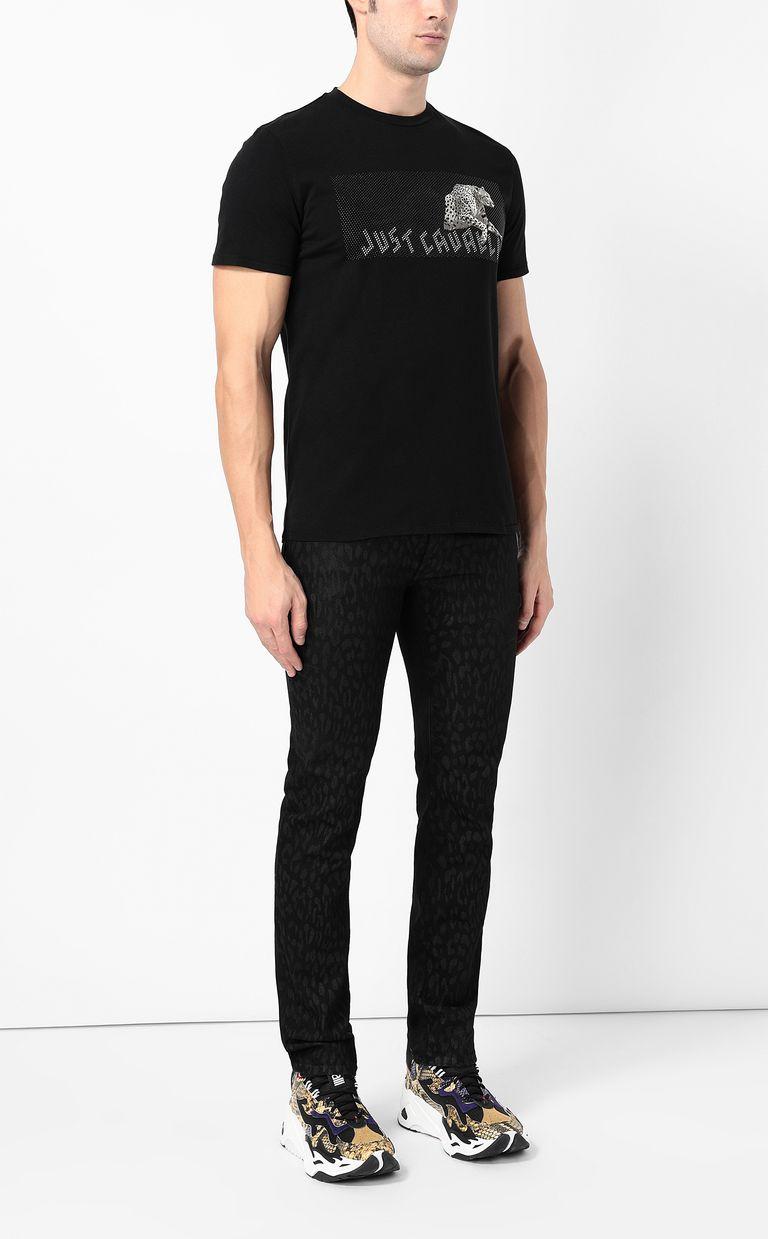 JUST CAVALLI Cheetah t-shirt Short sleeve t-shirt Man d