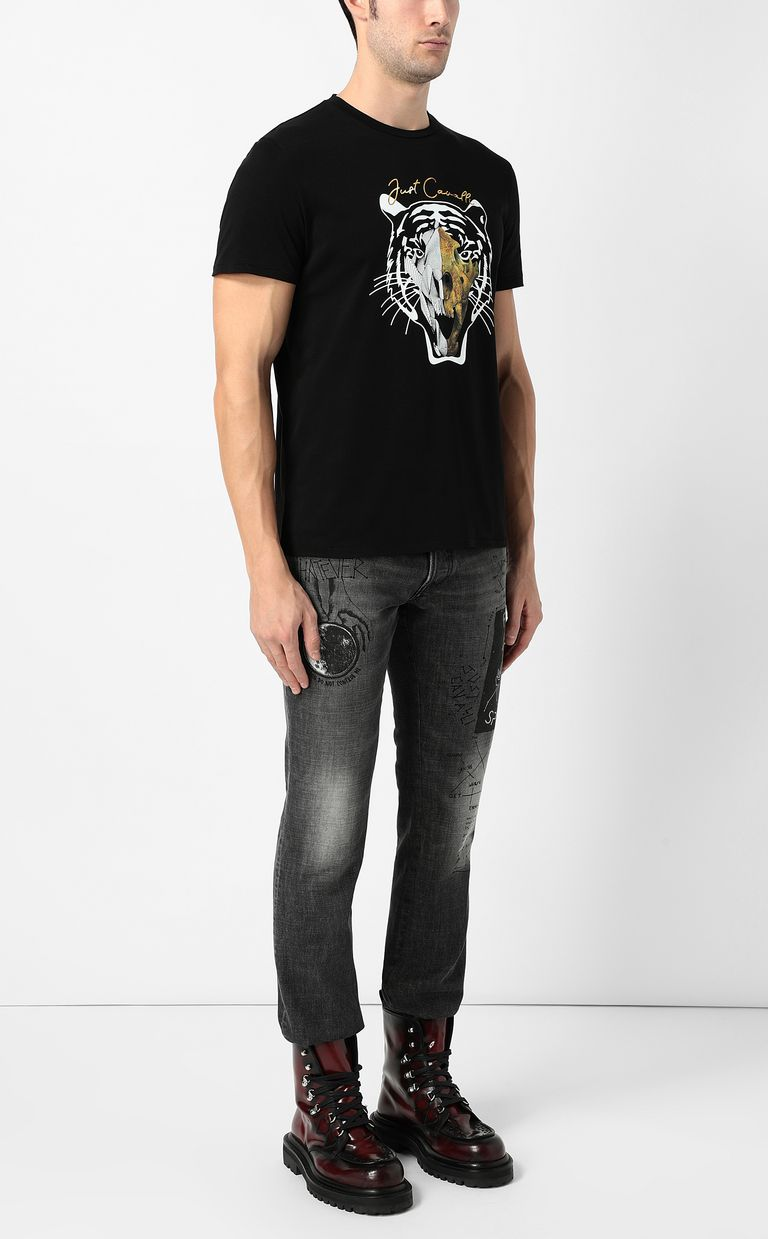 JUST CAVALLI Tiger-skull t-shirt Short sleeve t-shirt Man d