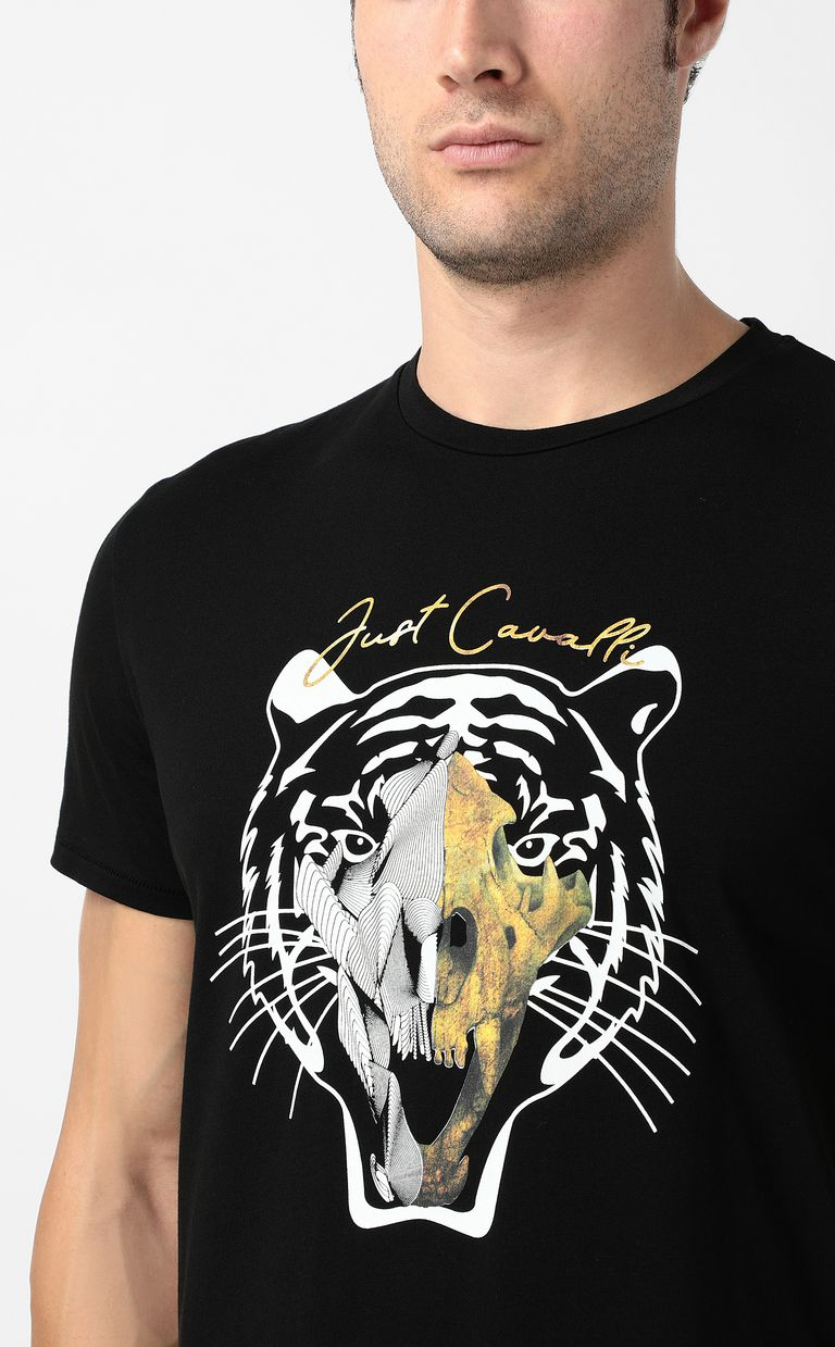 JUST CAVALLI Tiger-skull t-shirt Short sleeve t-shirt Man e