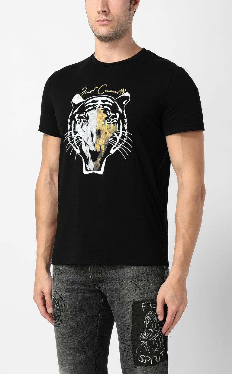 JUST CAVALLI Tiger-skull t-shirt Short sleeve t-shirt Man r