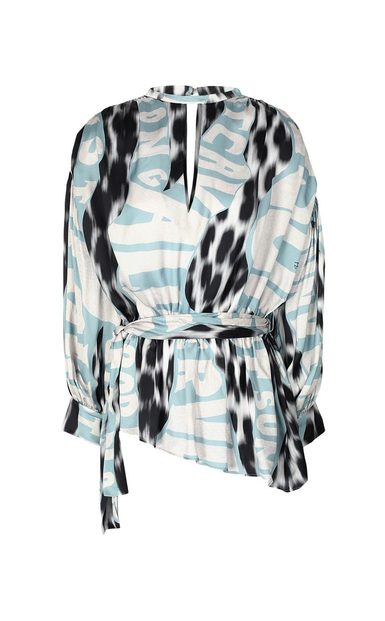 "JUST CAVALLI Top with ""Just Flow"" print Top Woman f"
