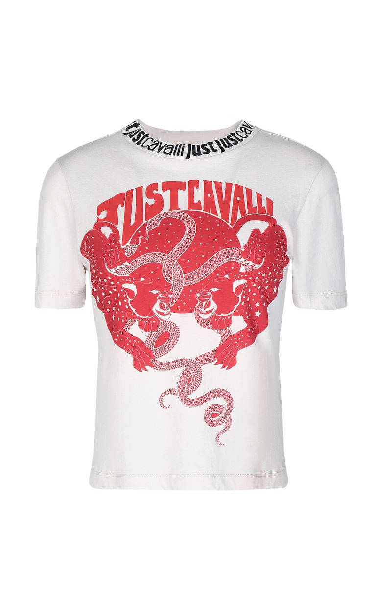 JUST CAVALLI Tiger-print t-shirt Short sleeve t-shirt Woman f