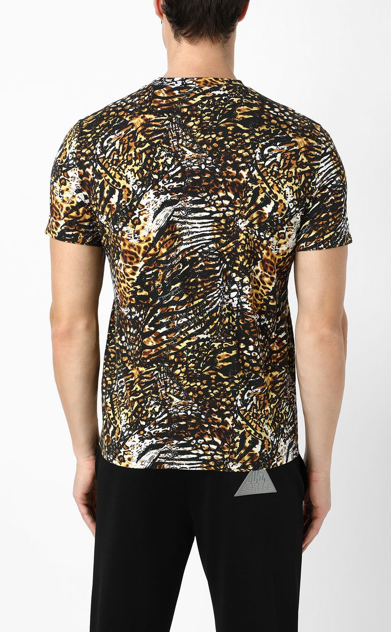 "JUST CAVALLI T-shirt with ""Duality"" print Short sleeve t-shirt Man a"