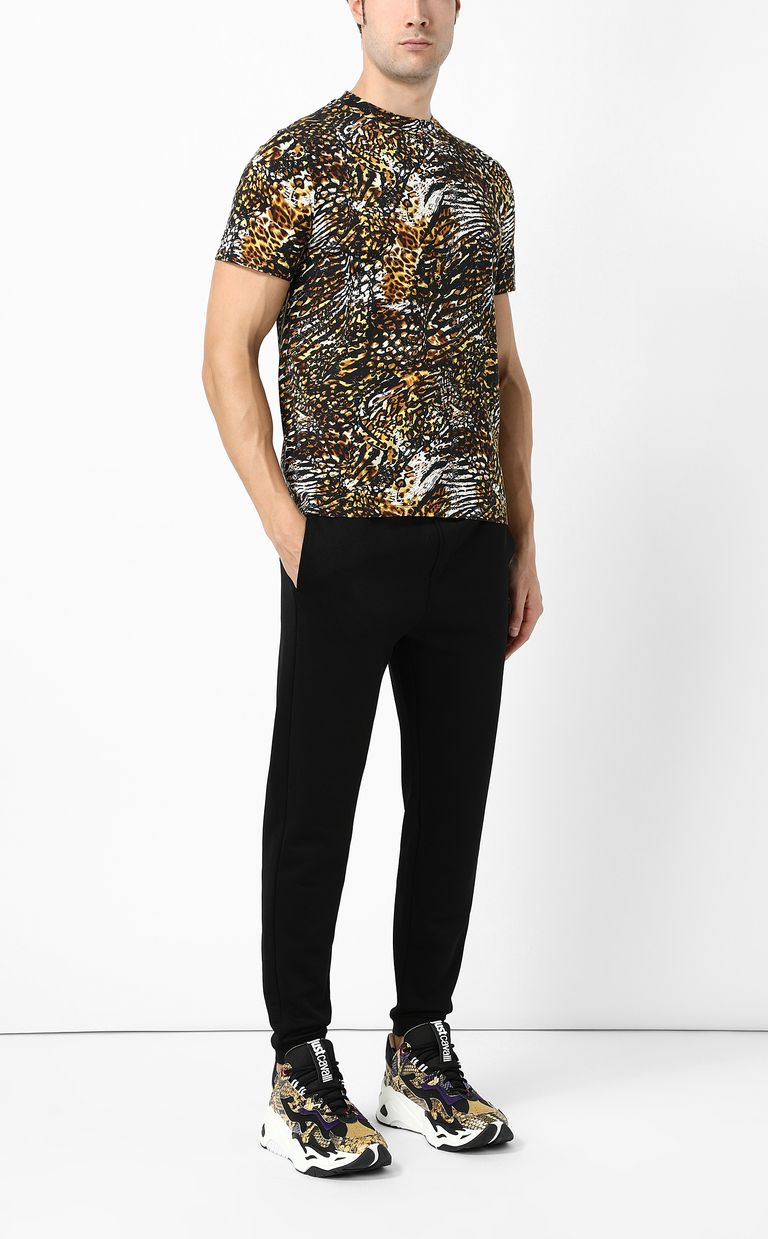 "JUST CAVALLI T-shirt with ""Duality"" print Short sleeve t-shirt Man d"