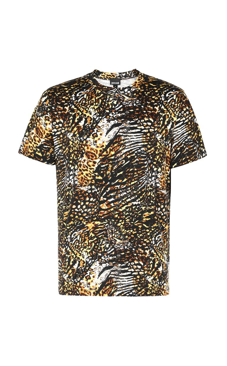 "JUST CAVALLI T-shirt with ""Duality"" print Short sleeve t-shirt Man f"