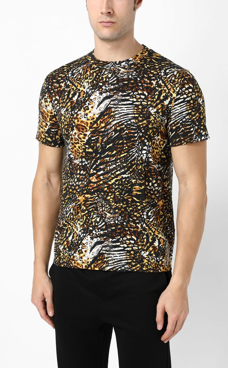 "JUST CAVALLI T-shirt with ""Duality"" print Short sleeve t-shirt Man r"