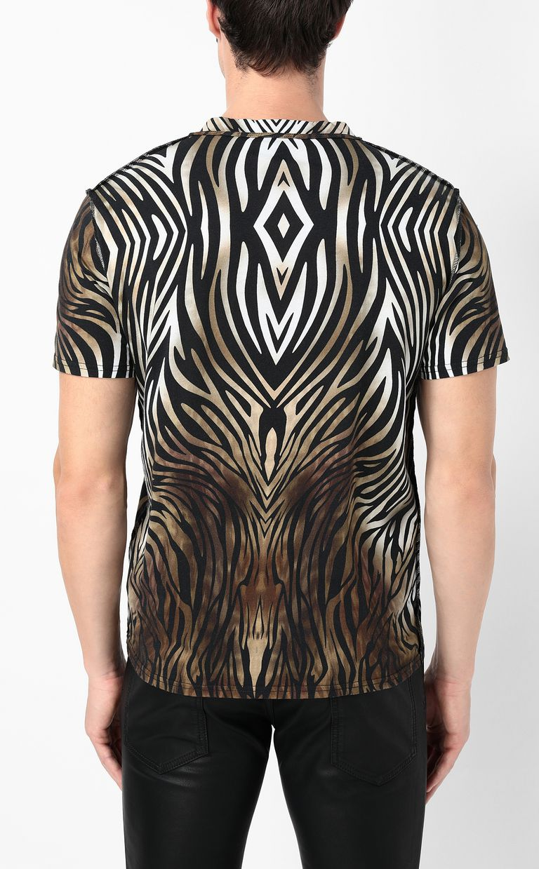 "JUST CAVALLI T-shirt with ""Symbiosis"" print Short sleeve t-shirt Man a"