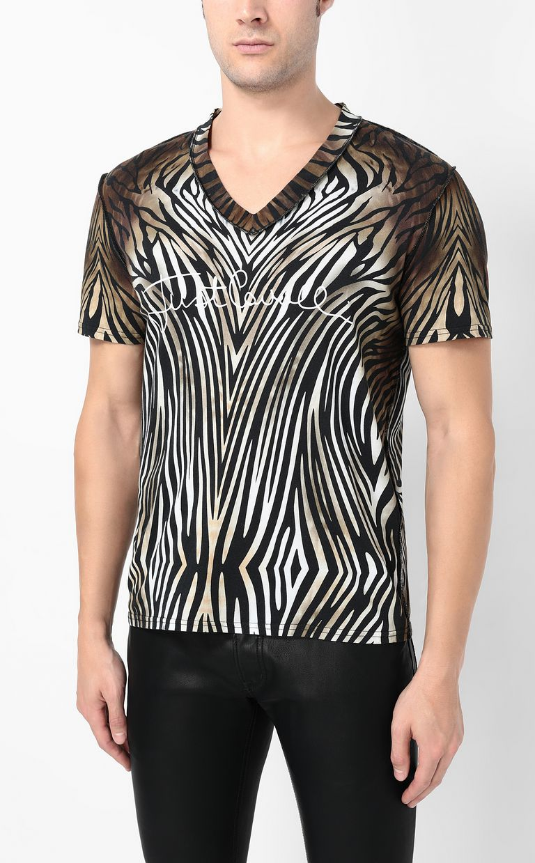 "JUST CAVALLI T-shirt with ""Symbiosis"" print Short sleeve t-shirt Man r"