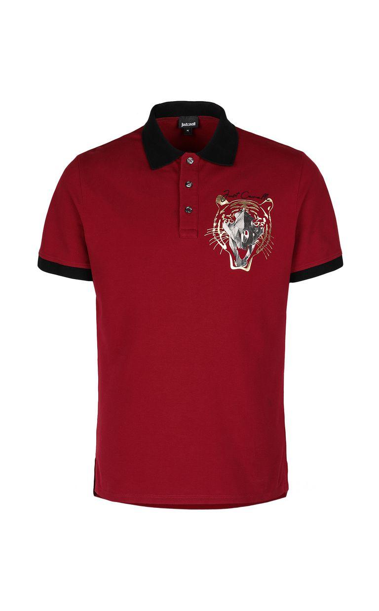 JUST CAVALLI Tiger-skull polo shirt Polo shirt Man f