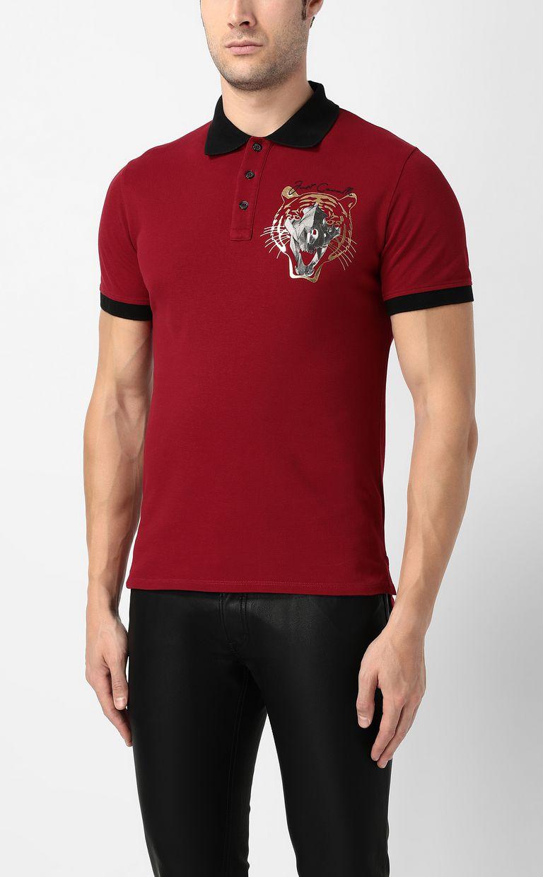 JUST CAVALLI Tiger-skull polo shirt Polo shirt Man r