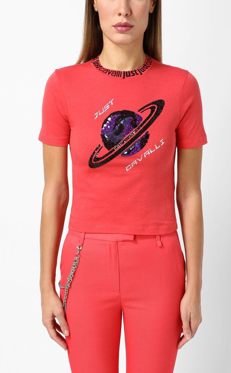 JUST CAVALLI Planet t-shirt Short sleeve t-shirt Woman r