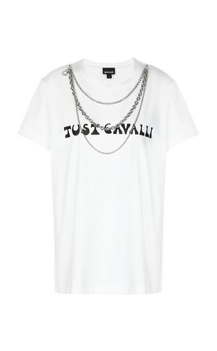 JUST CAVALLI Short sleeve t-shirt Woman Tiger-print t-shirt f