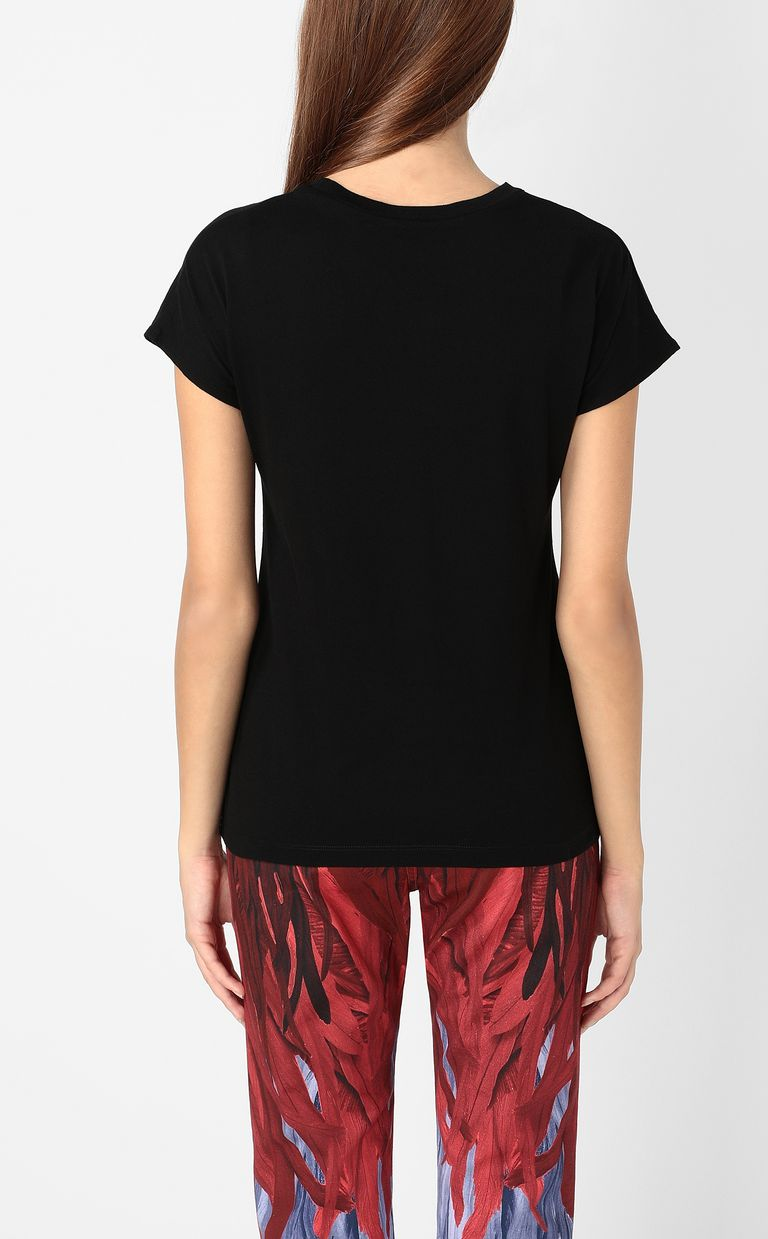 JUST CAVALLI T-shirt with logo print Short sleeve t-shirt Woman a