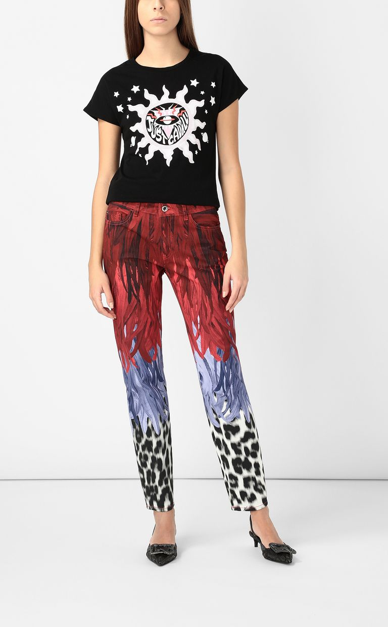 JUST CAVALLI T-shirt with logo print Short sleeve t-shirt Woman d