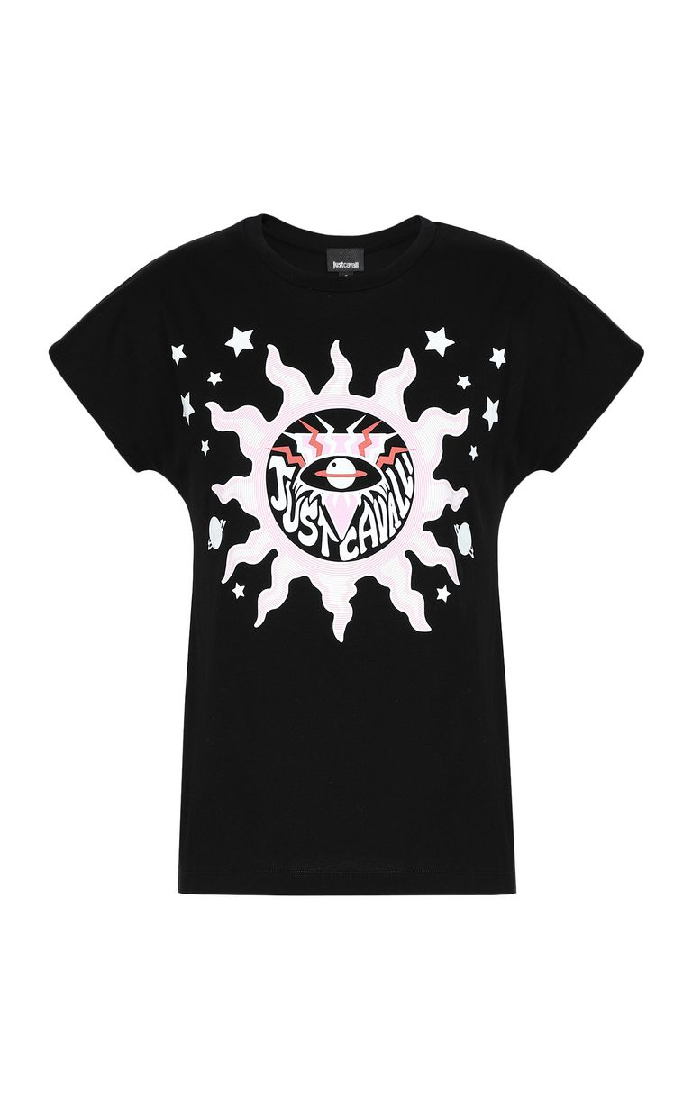 JUST CAVALLI T-shirt with logo print Short sleeve t-shirt Woman f