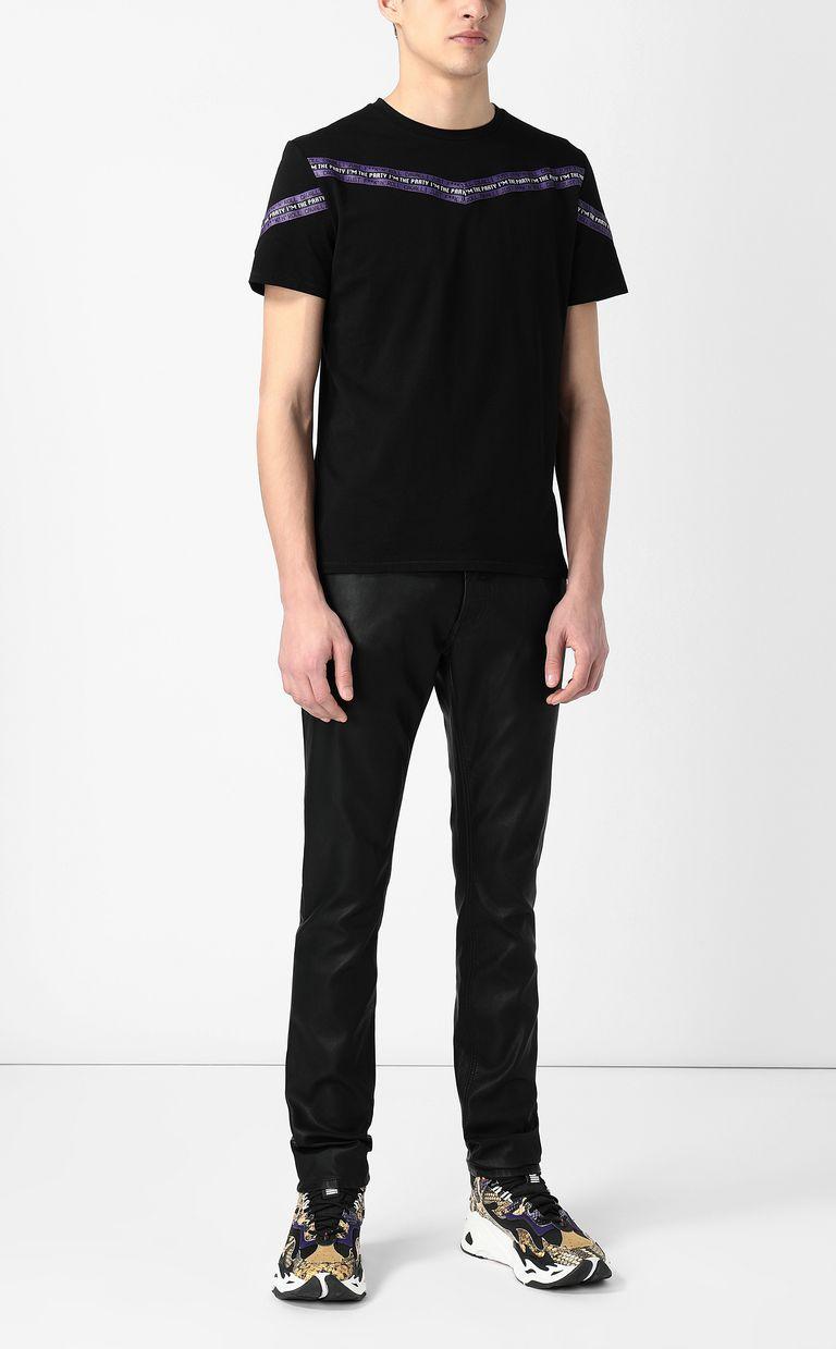 JUST CAVALLI T-shirt with band detail Short sleeve t-shirt Man d