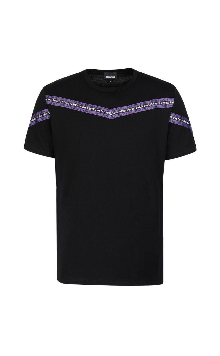 JUST CAVALLI T-shirt with band detail Short sleeve t-shirt Man f