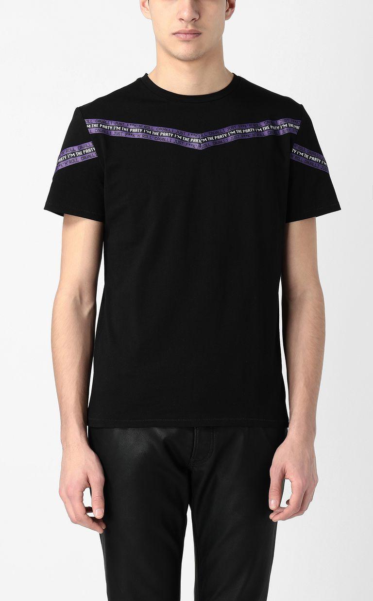 JUST CAVALLI T-shirt with band detail Short sleeve t-shirt Man r
