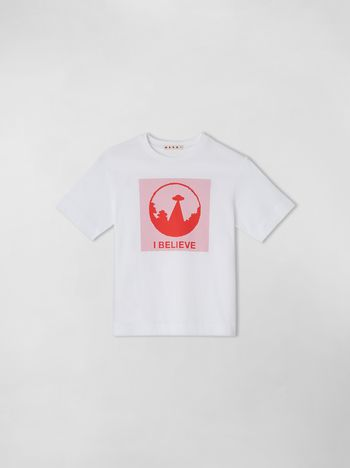 "Marni COTTON T-SHIRT WITH ""I BELIEVE"" PRINT Man f"
