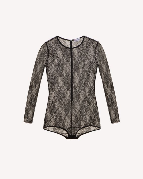 REDValentino 平纹针织蕾丝连体衣
