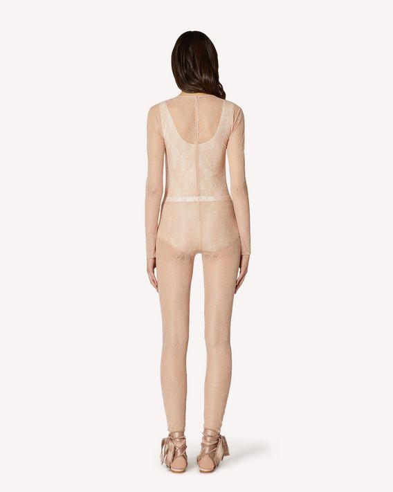 REDValentino Lace jersey bodysuit