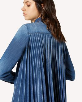 REDValentino Denim shirt with pleated back