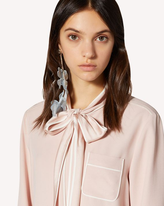 REDValentino Satin-backed crepe shirt