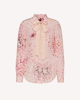 REDValentino EXCLUSIVE CAPSULE COLLECTION Silk shirt with Fireworks print