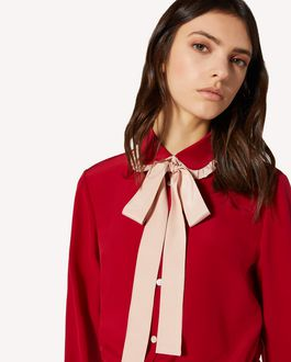 REDValentino EXCLUSIVE CAPSULE Ruffle detail silk shirt