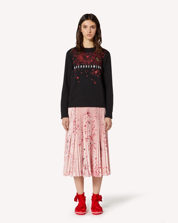 REDValentino EXCLUSIVE CAPSULE Fireworks printed sweatshirt