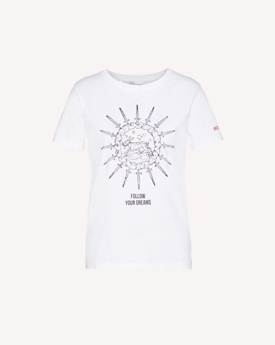 "REDValentino T-shirt with ""Bloomin Love"" print"