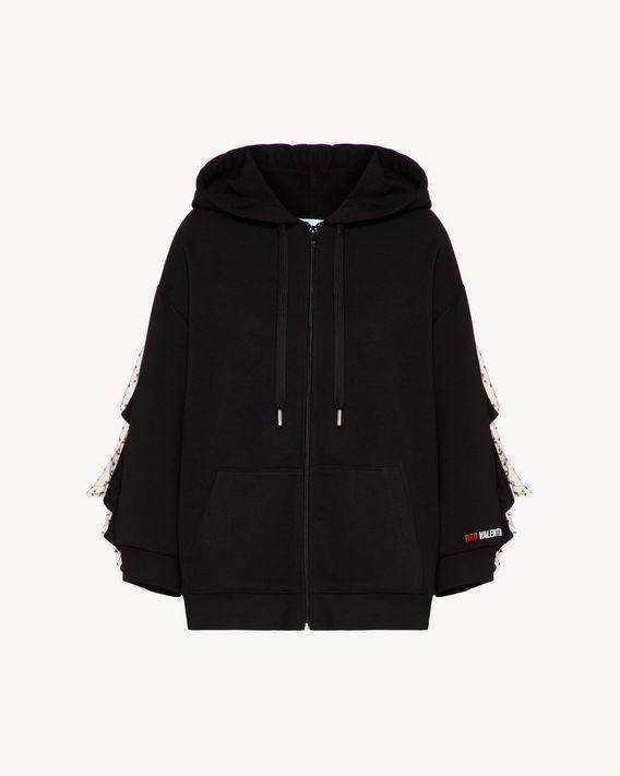 REDValentino Sweatshirt with ruffle detail