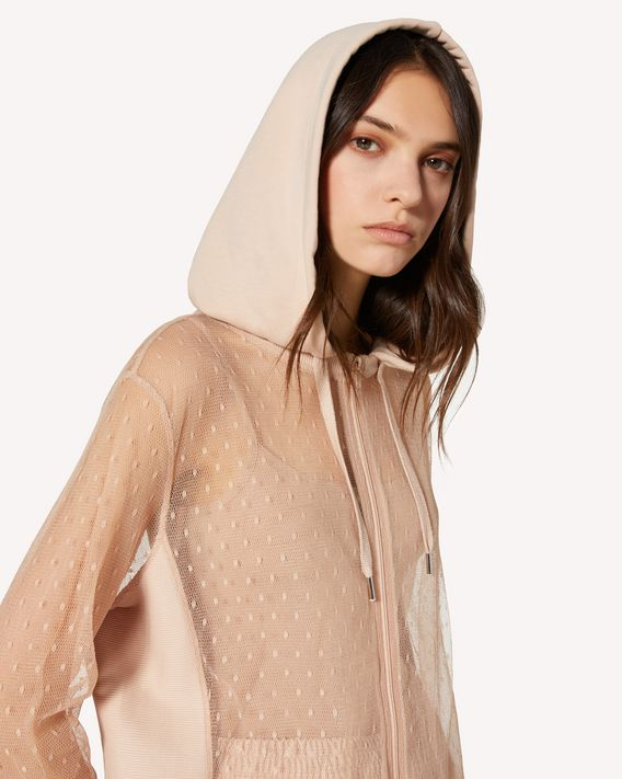 REDValentino Sweat-shirt en tulle au point d'esprit