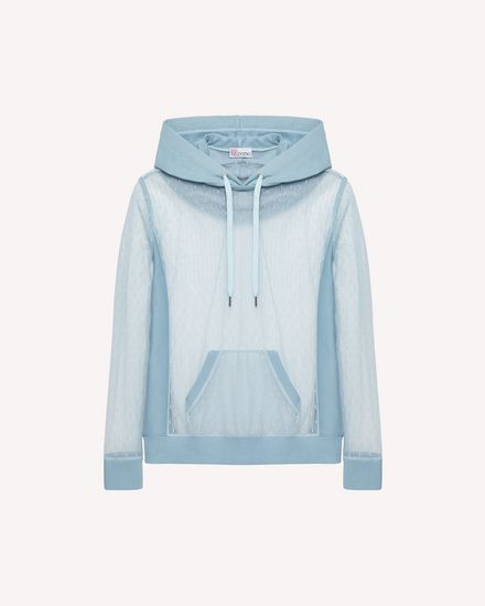 Point d'esprit tulle sweatshirt
