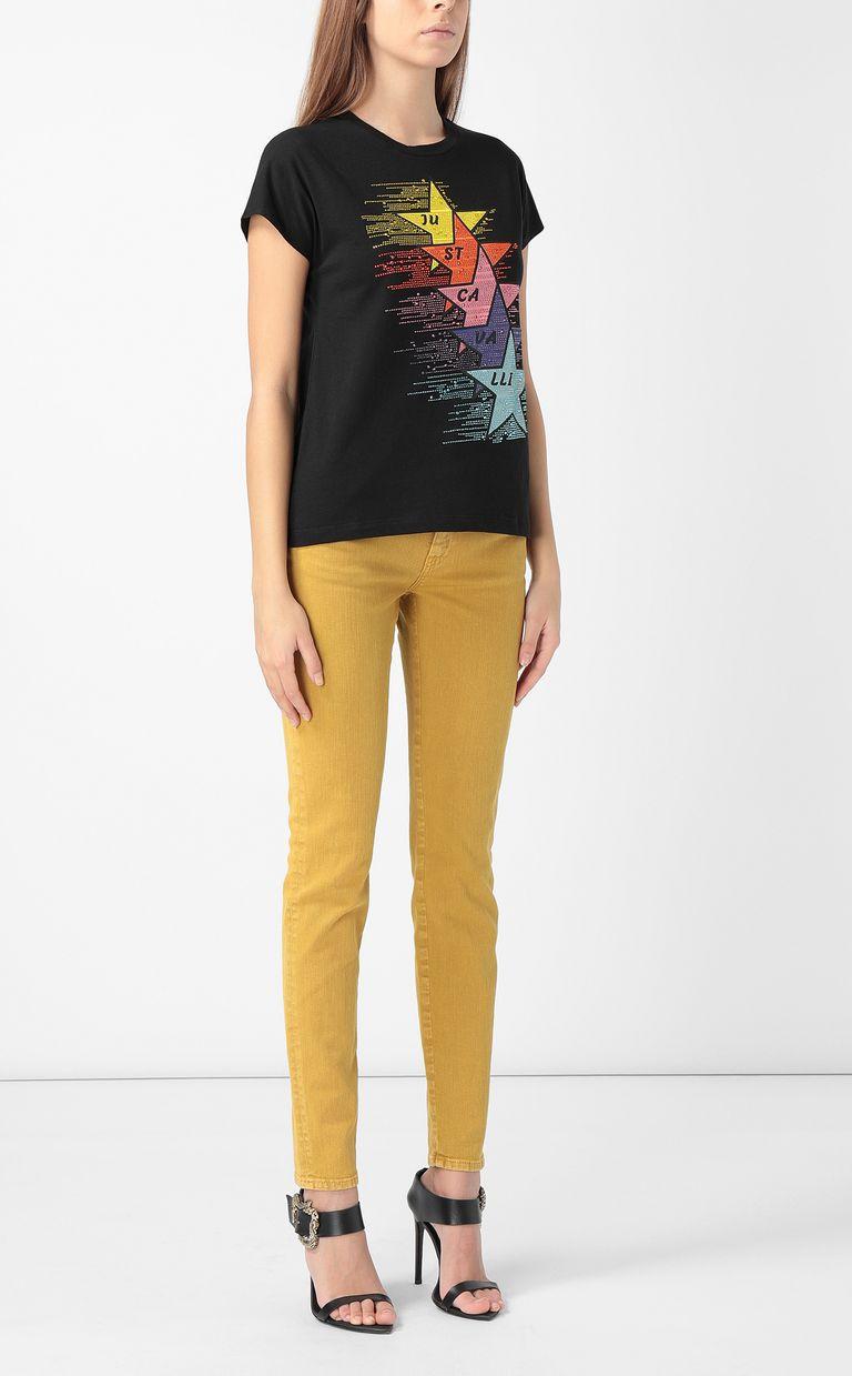 JUST CAVALLI T-shirt with stars print Short sleeve t-shirt Woman d