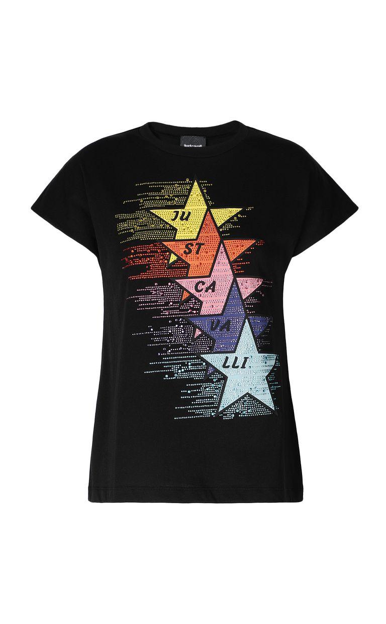 JUST CAVALLI T-shirt with stars print Short sleeve t-shirt Woman f