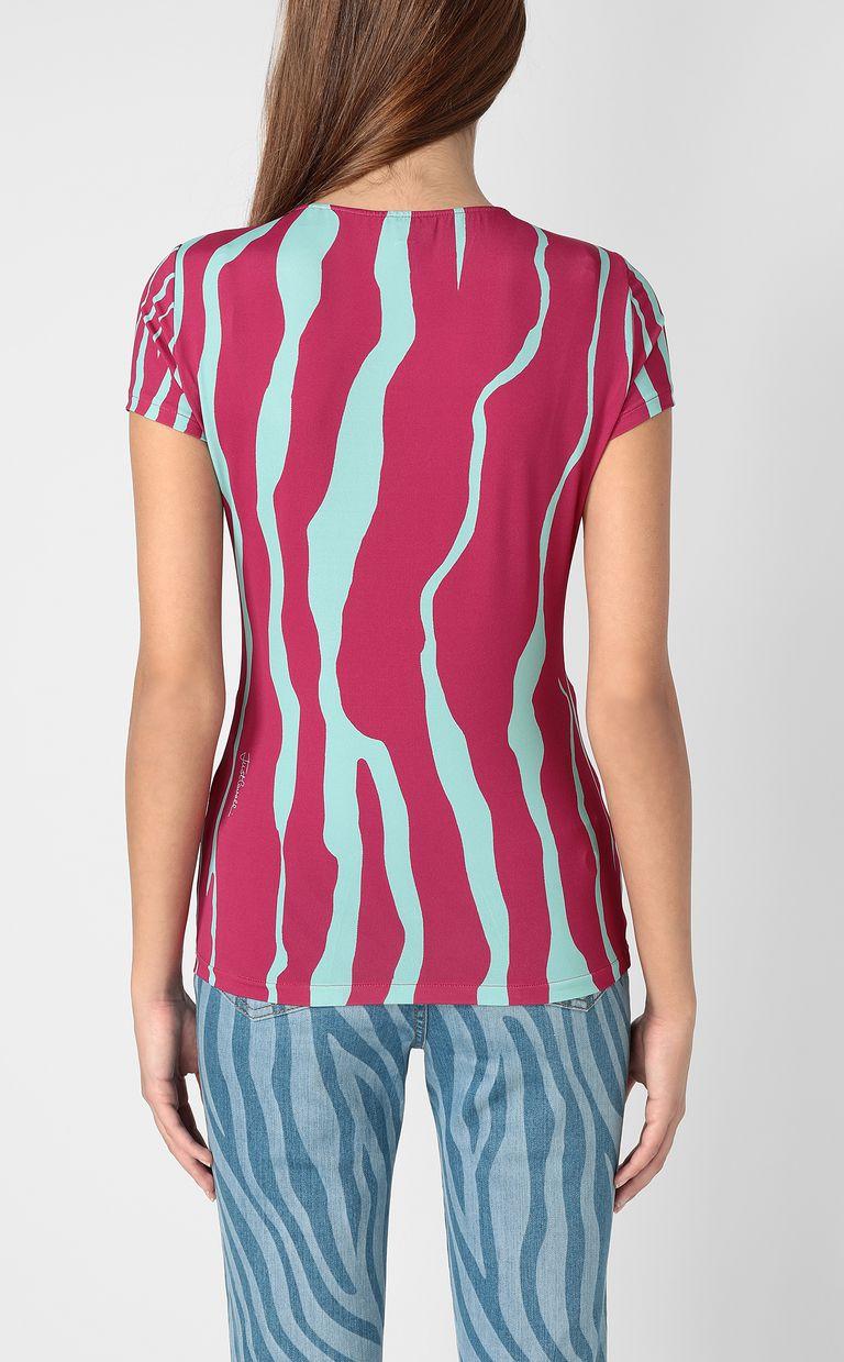 JUST CAVALLI Zebra-stripe-print top Top Woman a